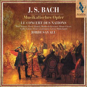 J.S BACH Musikalisches Opfer. Jordi Savall