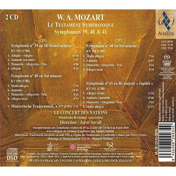 W.A. MOZART – Le Testament Symphonique