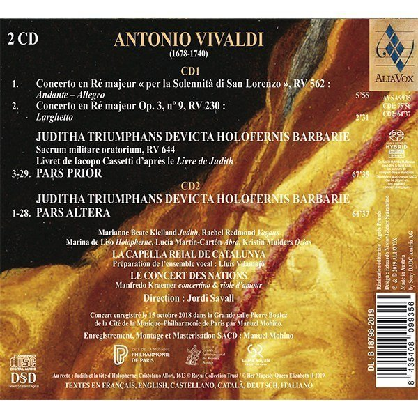 A Vivaldi Juditha Triumphans Alia Vox Jordi Savall