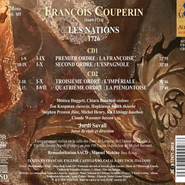 FRANÇOIS COUPERIN – Les Nations