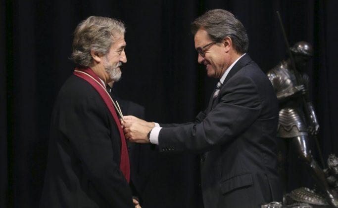 Jordi Savall rep la Medalla d'Or de la Generalitat